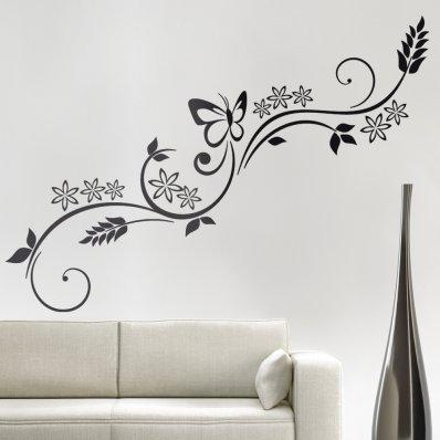 Adesivi follia stickers murali - Decorazioni floreali per pareti ...