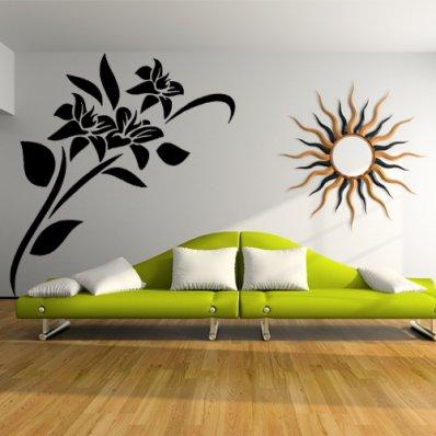 Adesivi Parete Fiori.Adesivo Murale Fiori Home Visualizza Idee Immagine