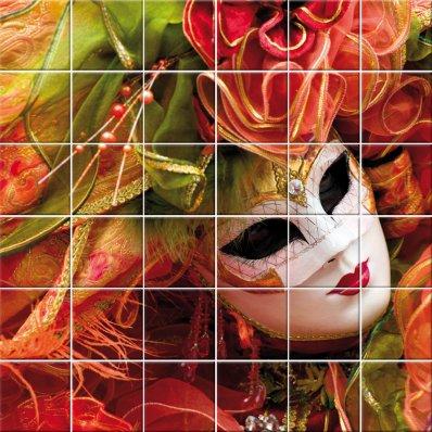 Adesivi follia adesivo per piastrelle maschera veneziana - Piastrelle tipo veneziana ...