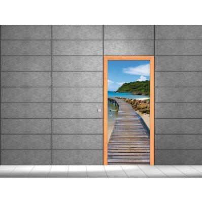 Adesivi follia adesivo per porte ponte di legno for Adesivi per porte in legno