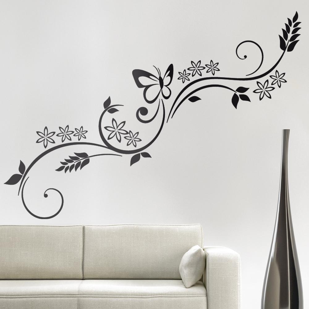 Adesivi follia adesivi murali fiori - Decorazioni floreali per pareti ...