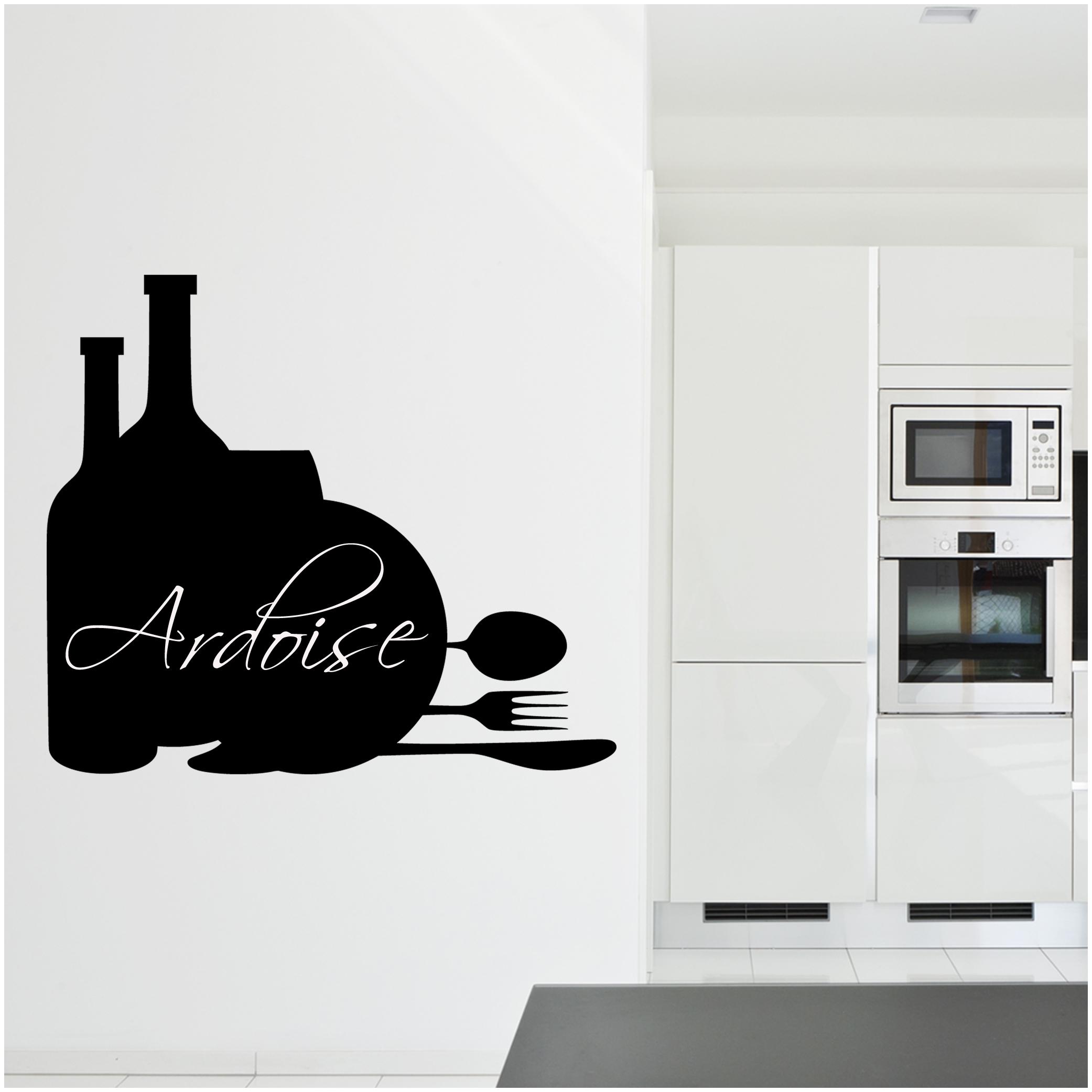 Adesivi follia adesivo lavagna cucina posate - Lavagna magnetica per cucina ...