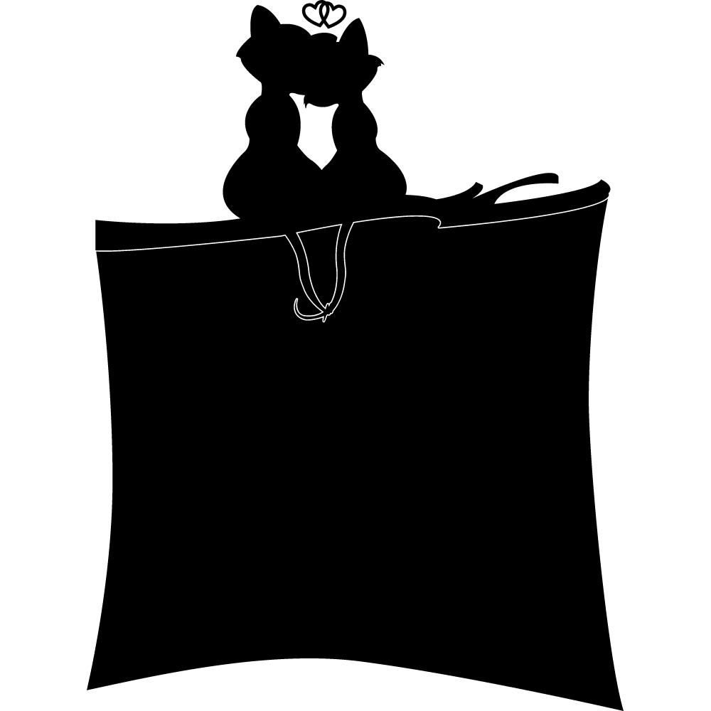 Adesivi follia : Adesivo Lavagna gatto