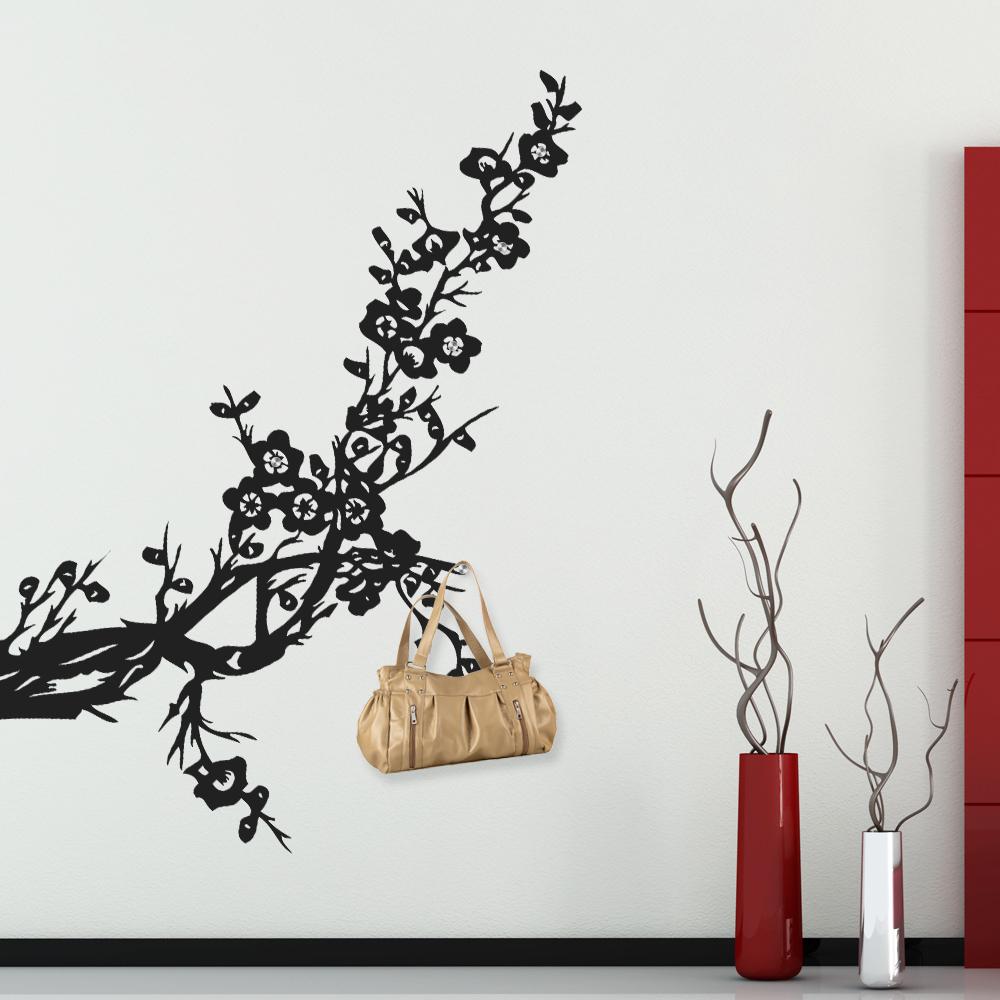 Adesivi follia adesivo murale appendiabiti albero for Appendiabiti albero