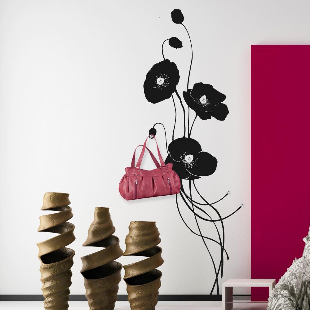 Adesivi follia : Adesivo Murale Appendiabiti fiore