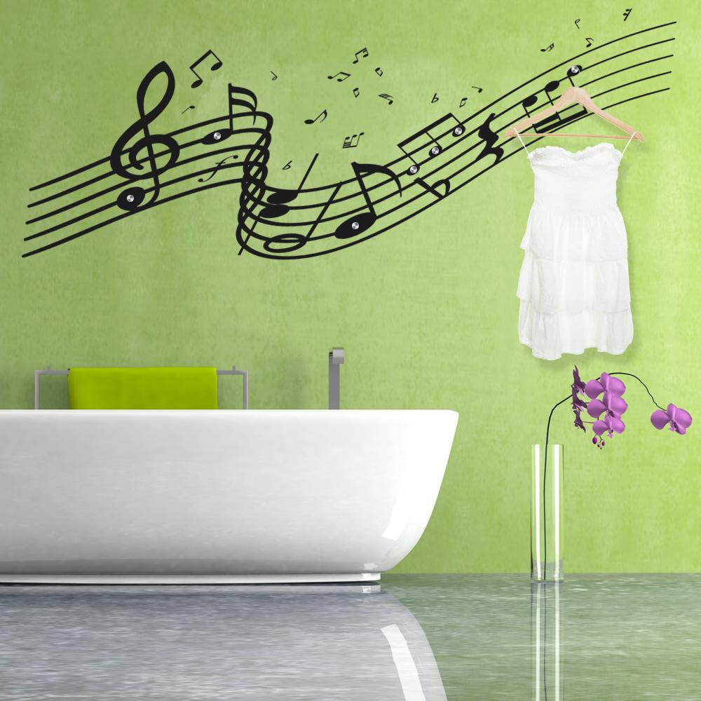 Adesivi follia : Adesivo Murale Appendiabiti musica
