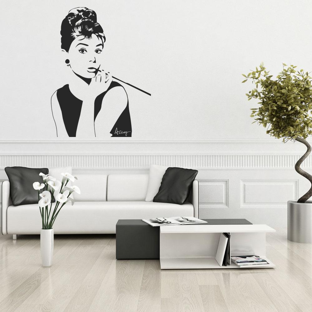 Adesivi Murali Audrey Hepburn.Adesivi Follia Adesivo Murale Audrey Hepburn