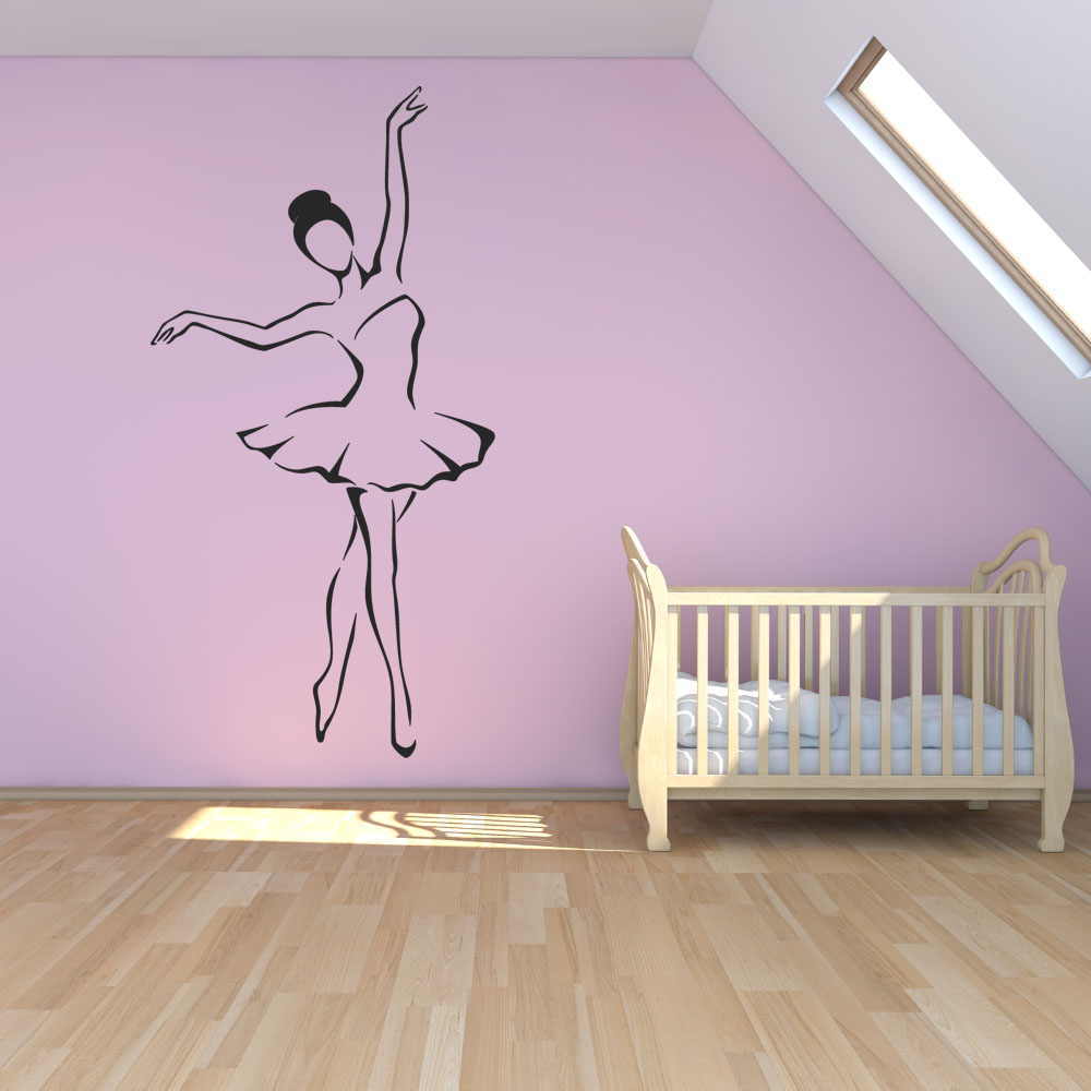 adesivi follia adesivo murale ballerina. Black Bedroom Furniture Sets. Home Design Ideas