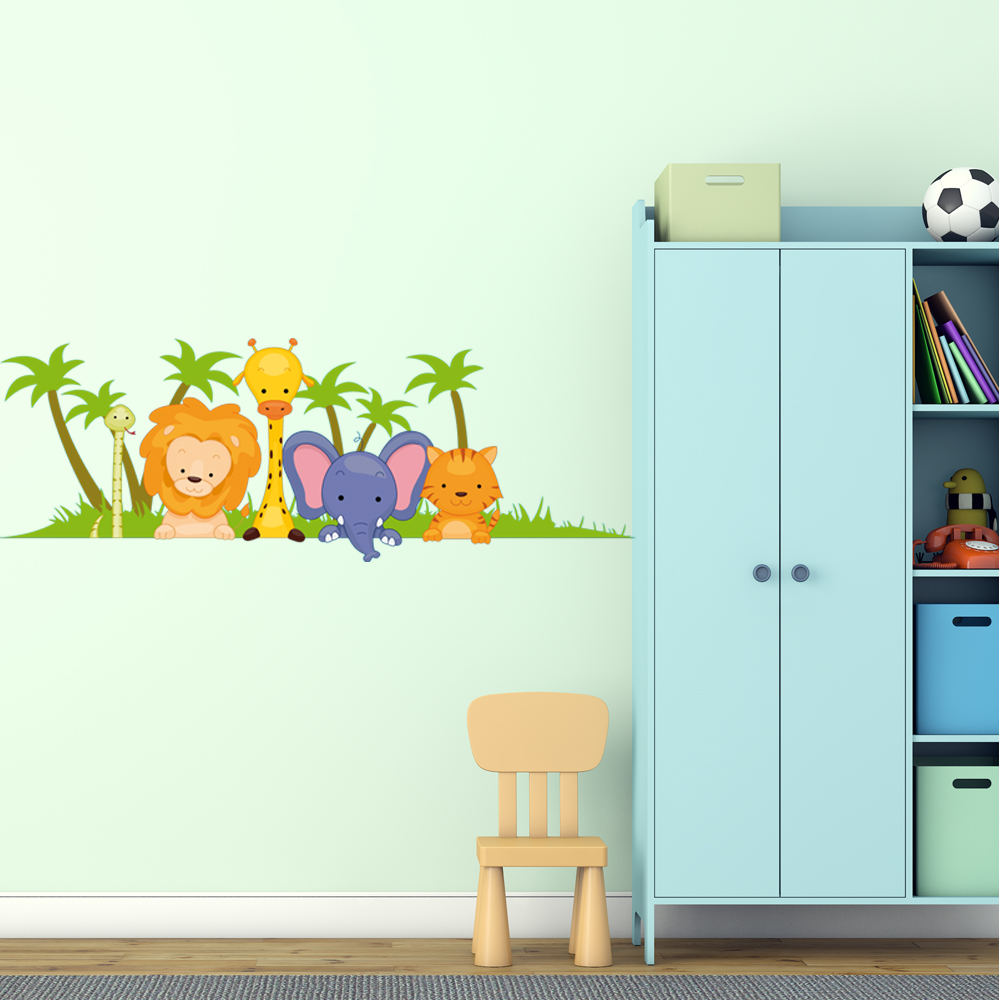 Adesivi follia adesivo murale bambino animali for Adesivi follia