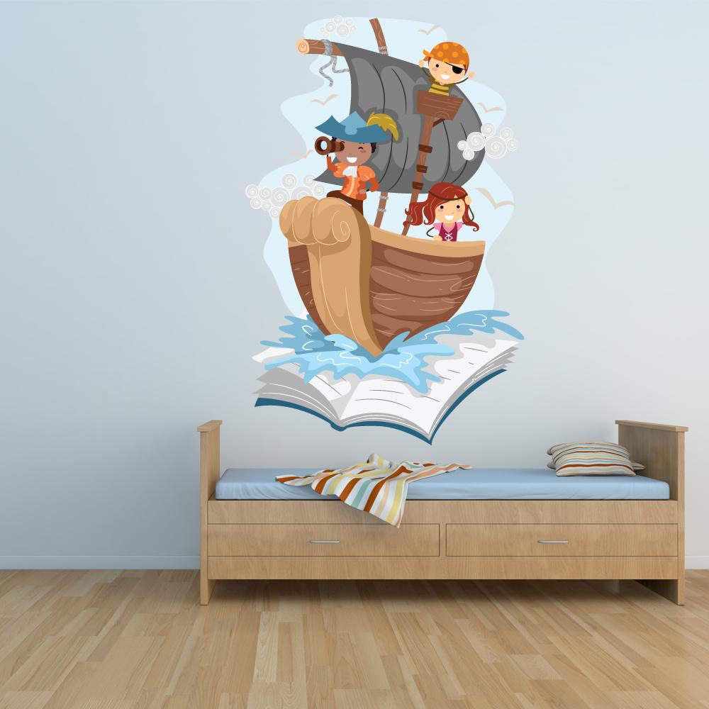 Adesivi follia adesivo murale bambino barca pirata for Adesivi follia