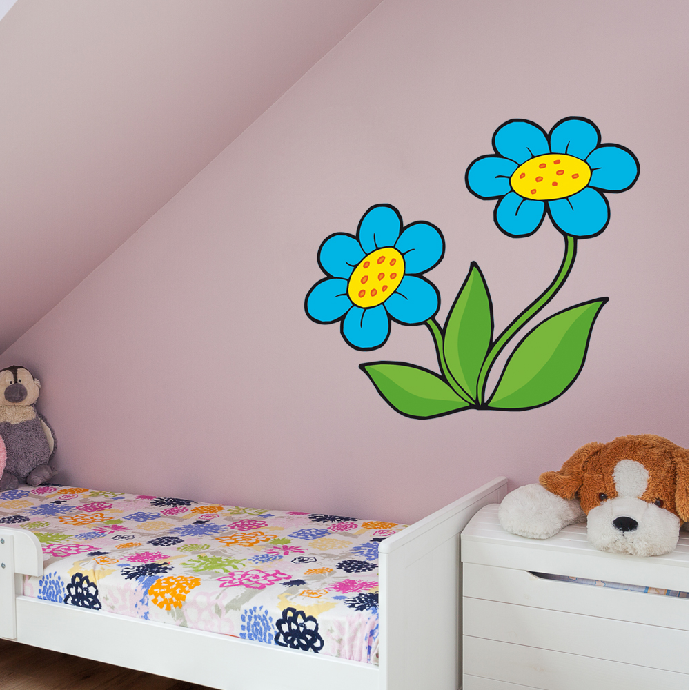 adesivi follia adesivo murale bambino fiori