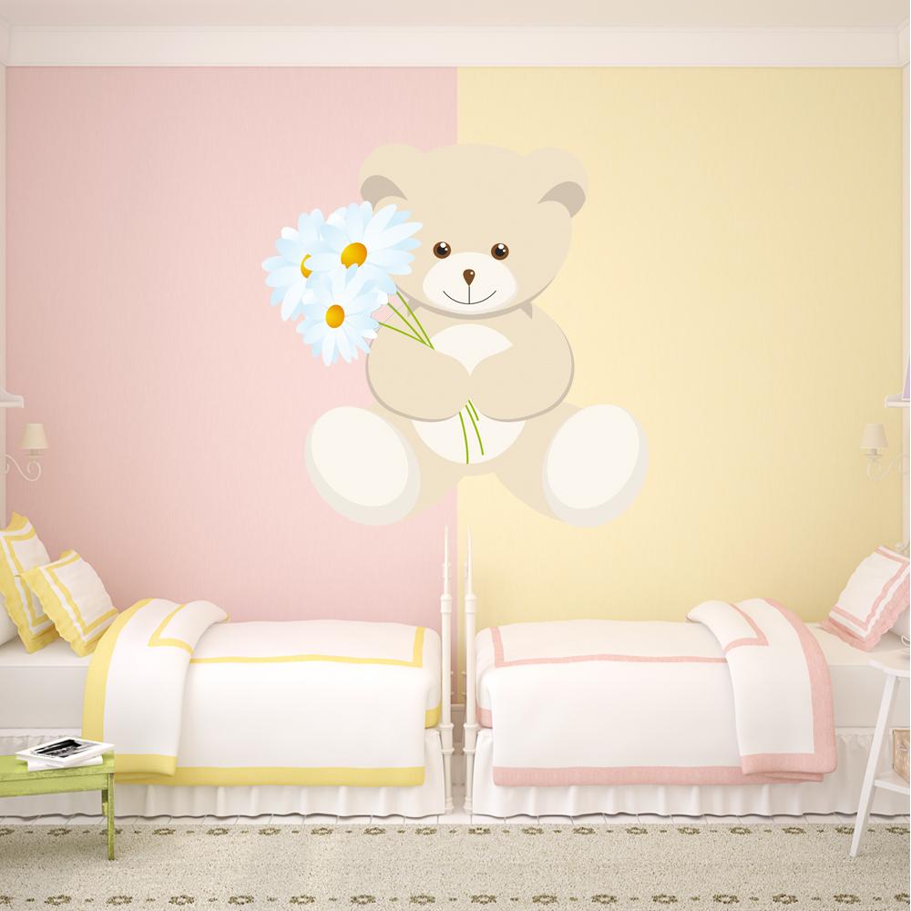Adesivi follia adesivo murale bambino orsetto - Adesivi per cameretta bambini ...