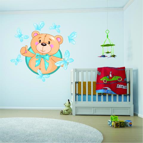 Adesivi Murali Orsetti.Adesivi Follia Adesivo Murale Bambino Orsetto