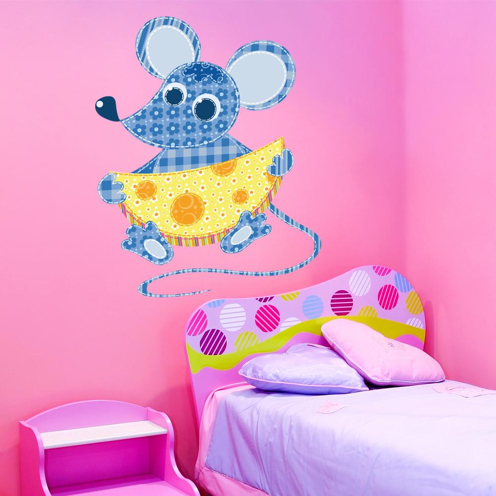 Adesivi follia adesivo murale bambino souris for Adesivi follia