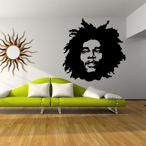 Adesivi Murali Bob Marley.Adesivi Follia Adesivo Murale Bob Marley