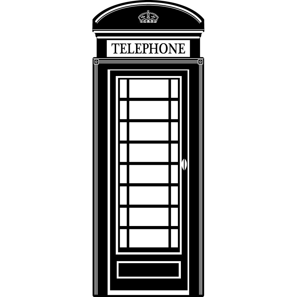 Adesivi follia adesivo murale cabina telefonica for Cabina telefonica inglese arredamento