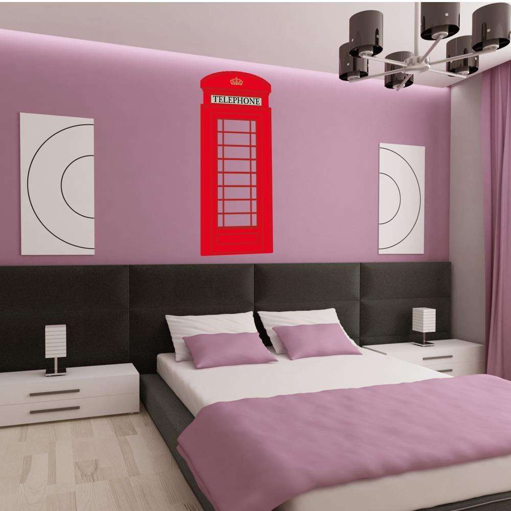 Londra Cabina Telefonica vinile adesivo murale citazioni