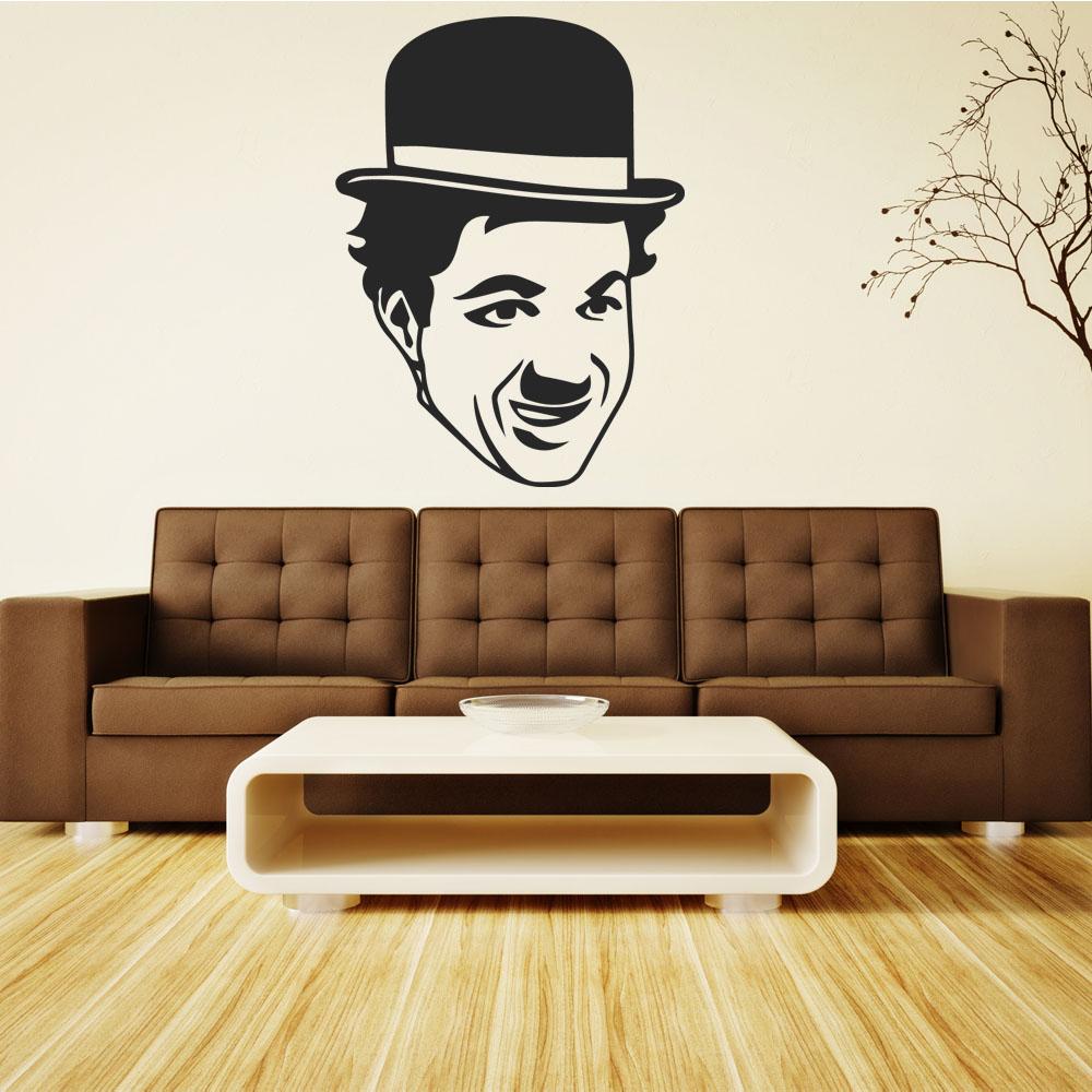 Adesivi Murali Charlie Chaplin.Adesivi Follia Adesivo Murale Charlie Chaplin
