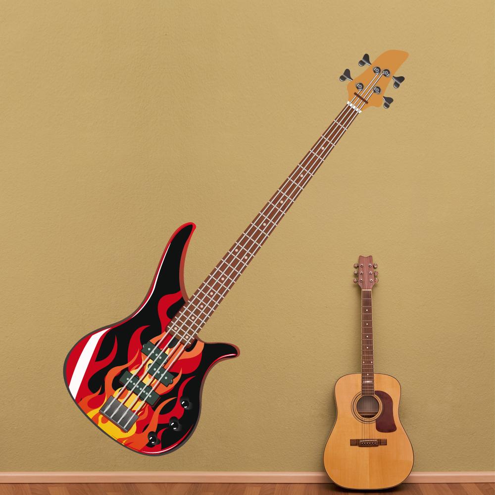 Adesivi follia adesivo murale chitarra for Adesivi follia