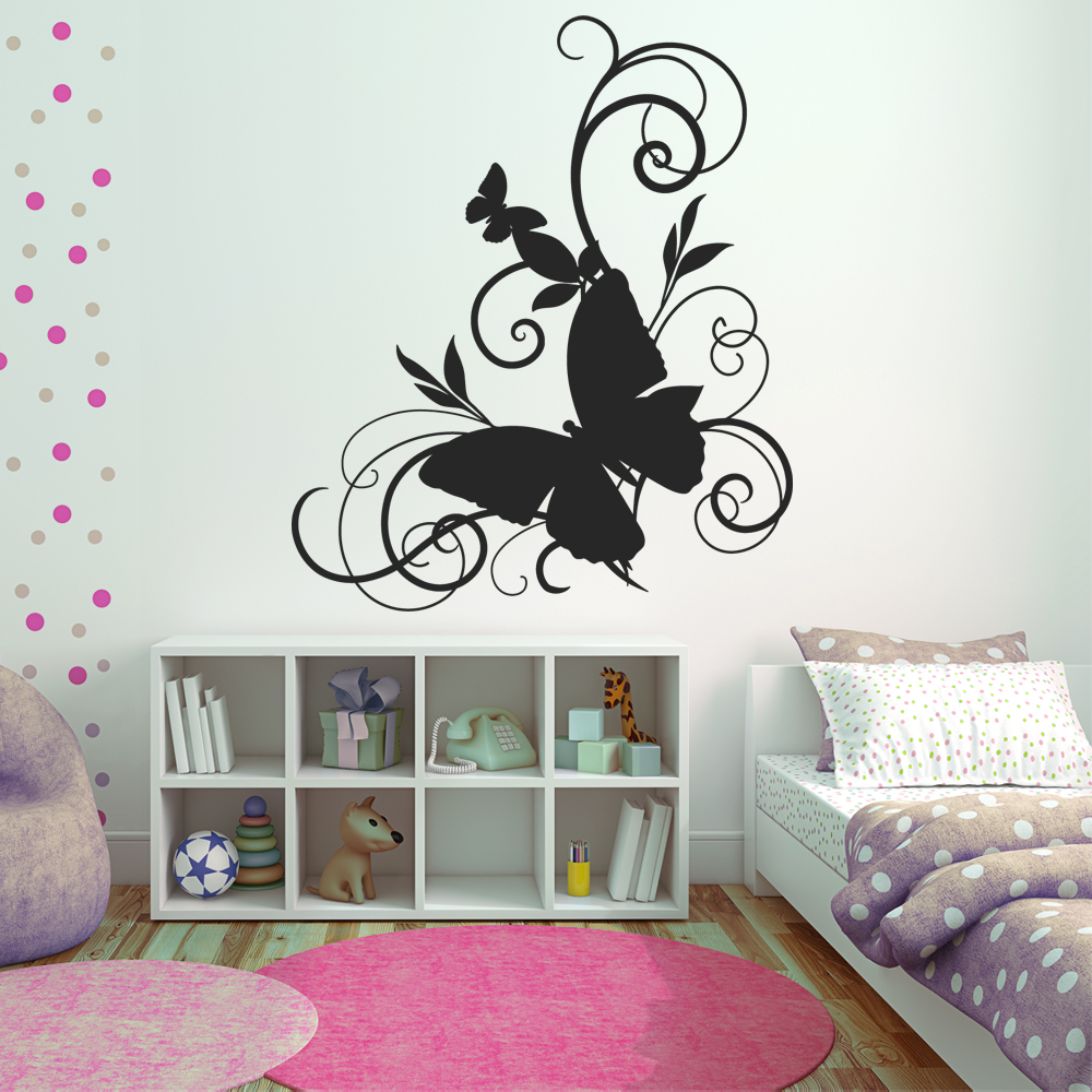 adesivi follia adesivo murale farfalle