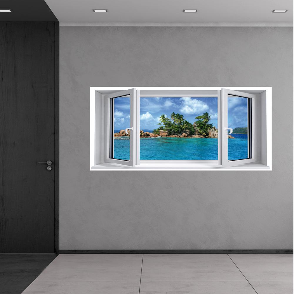 Adesivi follia adesivo murale finestra trompe l 39 oeil - Trompe l oeil finestra ...