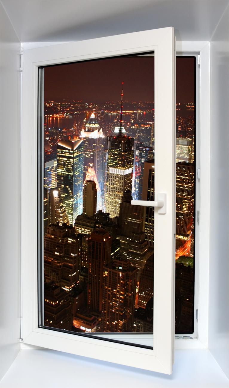 Adesivi follia adesivo murale finestra trompe l 39 oeil for Finestra new york