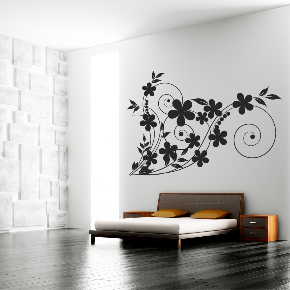 adesivi follia adesivo murale fiore
