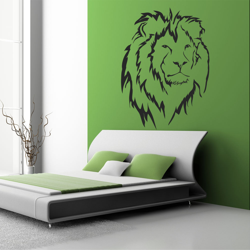 Adesivi follia : Adesivo Murale leone
