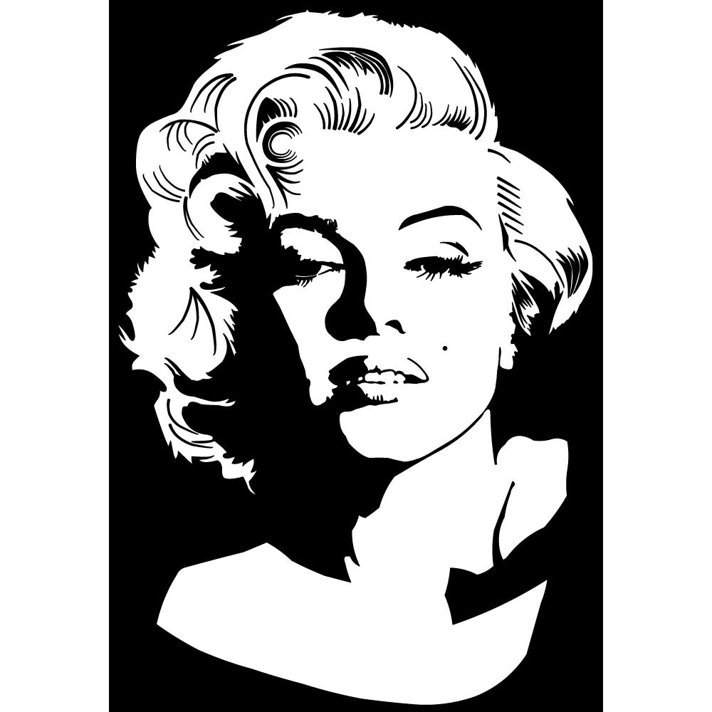 Adesivi follia : Adesivo Murale Marilyn Monroe