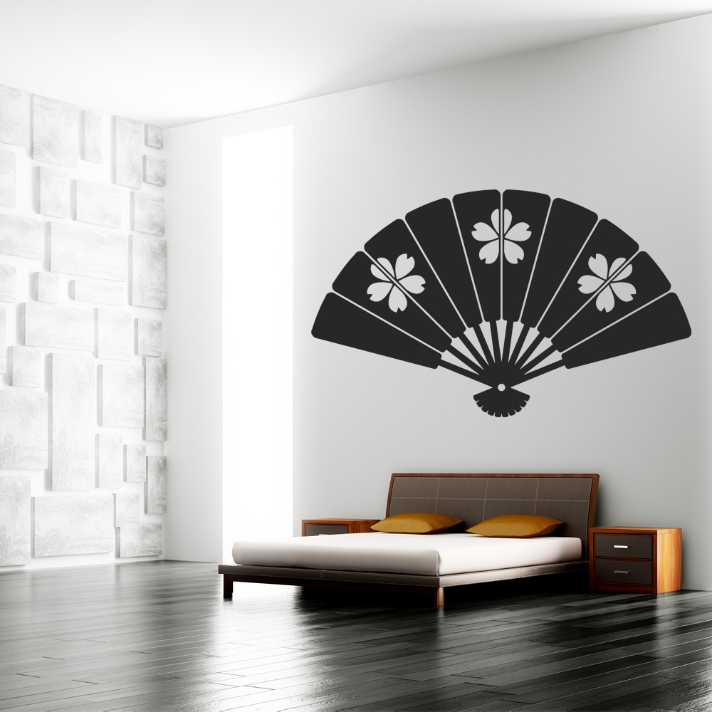 Ventagli Da Parete Decorativi adesivi follia : adesivo murale ventaglio
