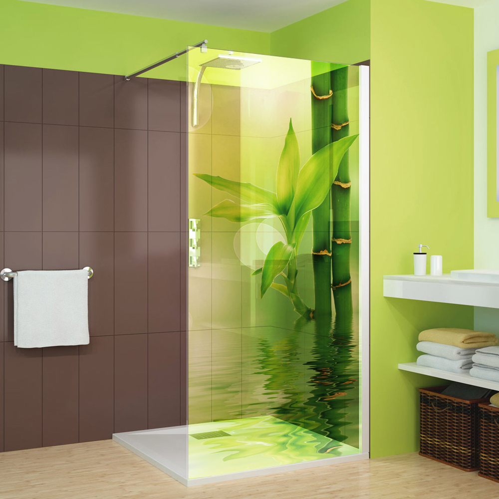 adesivi follia adesivo per box doccia traslucido bamb