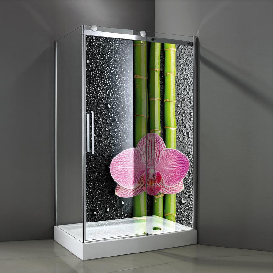 Adesivi follia adesivo per box doccia traslucido bamb for Adesivi per piastrelle doccia