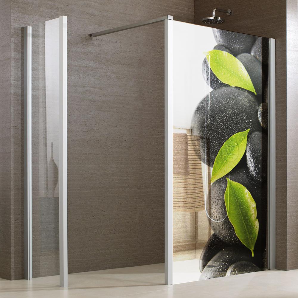 Adesivi follia adesivo per box doccia traslucido ciottoli for Adesivi per piastrelle doccia