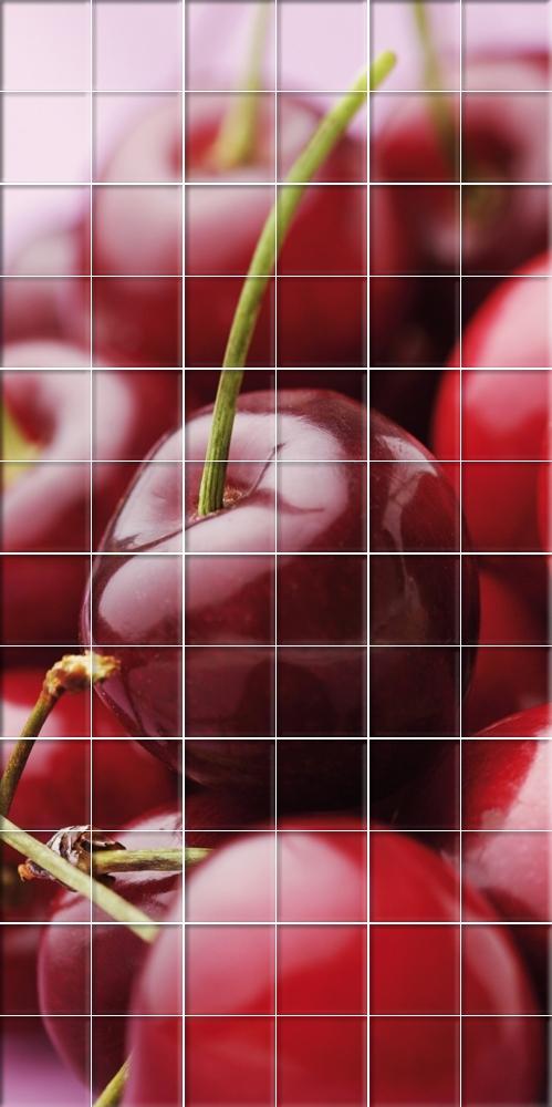 Adesivi follia adesivo per piastrelle ciliegia - Adesivi decorativi per piastrelle ...