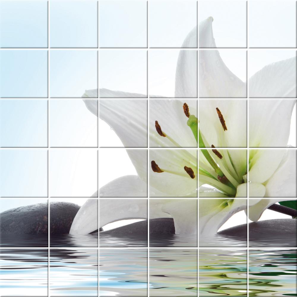 Adesivi follia adesivo per piastrelle fiore - Adesivi decorativi per piastrelle ...