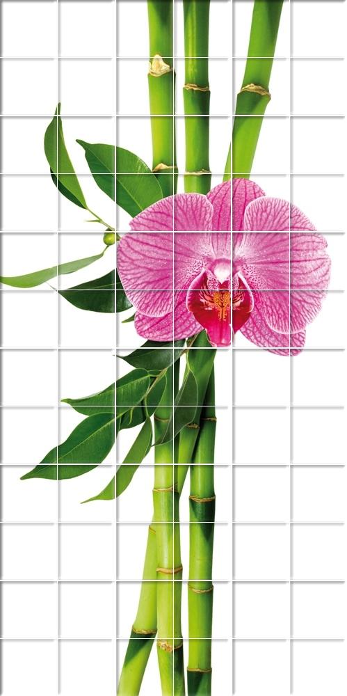 Adesivi follia adesivo per piastrelle fiore bamb - Adesivi decorativi per piastrelle ...
