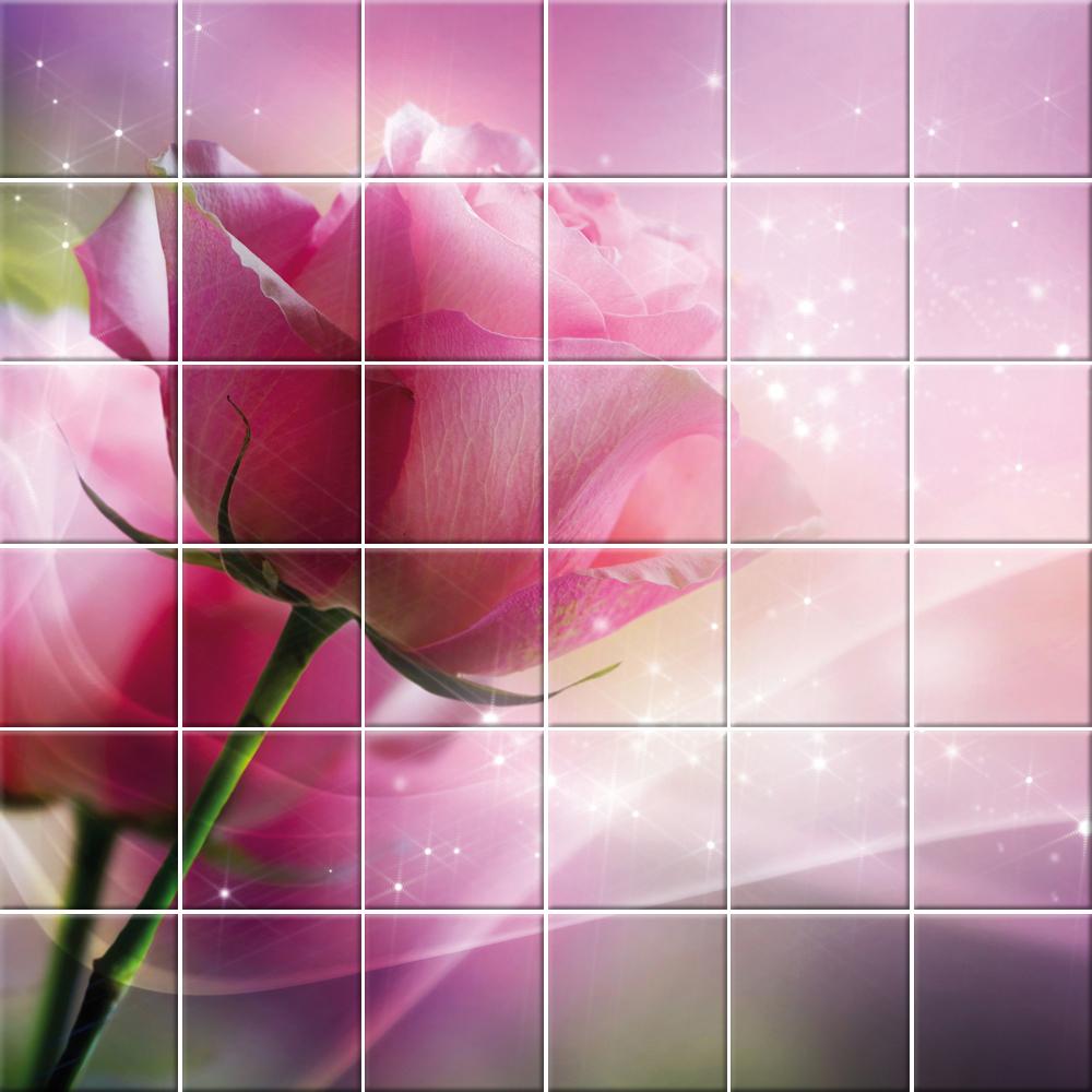 Piastrelle Cucina Con Fiori adesivi follia : adesivo per piastrelle fiori