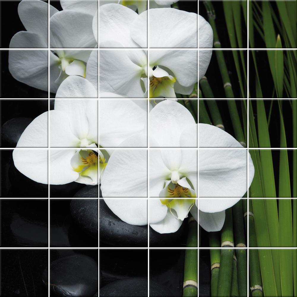 Adesivi follia adesivo per piastrelle fiori - Adesivi per piastrelle ...