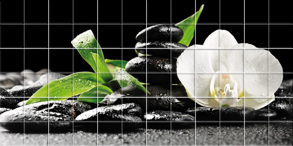 Adesivi follia adesivo per piastrelle fiori ciottoli - Adesivi decorativi per piastrelle ...