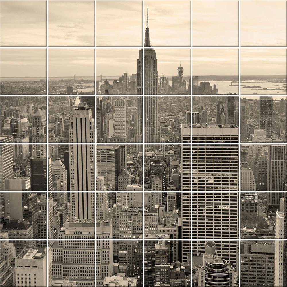 Adesivi follia : Adesivo per piastrelle new york