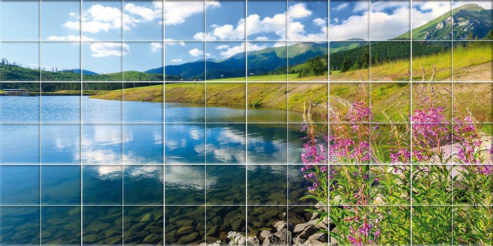 Adesivi follia adesivo per piastrelle paesaggio for Adesivi per piastrelle doccia