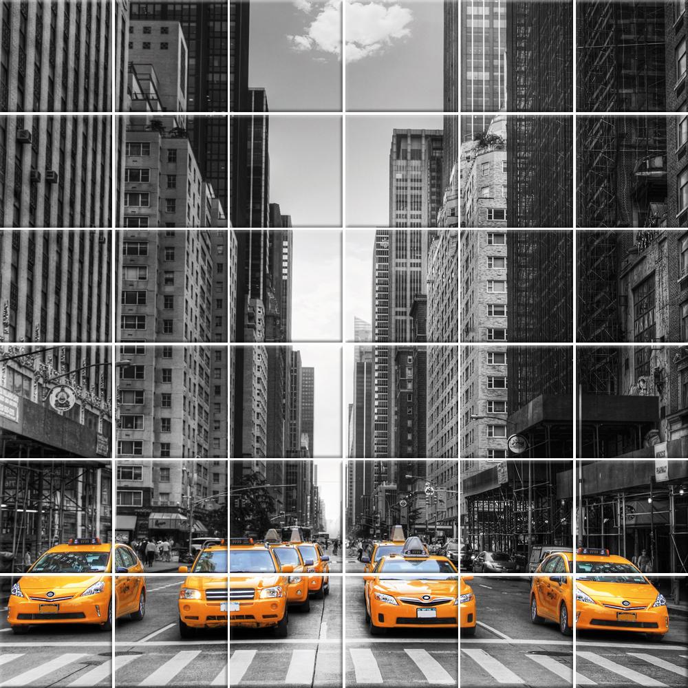 Adesivi follia adesivo per piastrelle taxi - Adesivi decorativi per piastrelle ...
