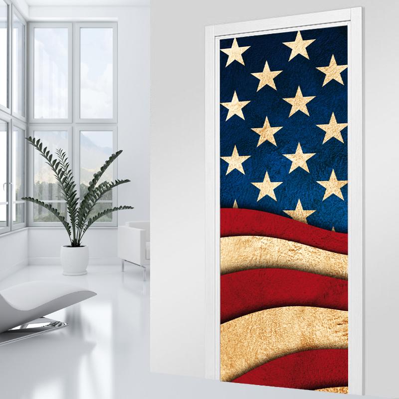 Adesivi follia adesivo per porte america - Adesivi decorativi per porte ...