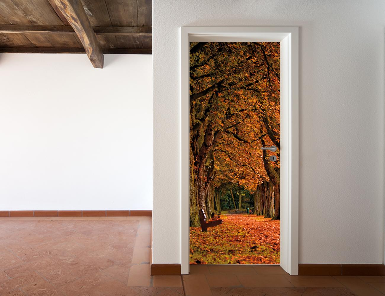 Adesivi follia adesivo per porte autunno - Adesivi decorativi per porte ...