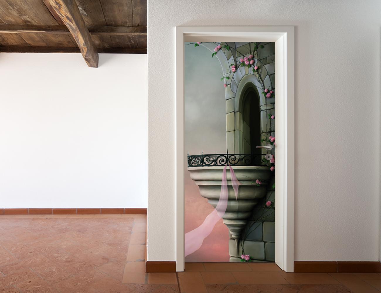 Adesivi follia adesivo per porte balcone - Adesivi decorativi per porte ...