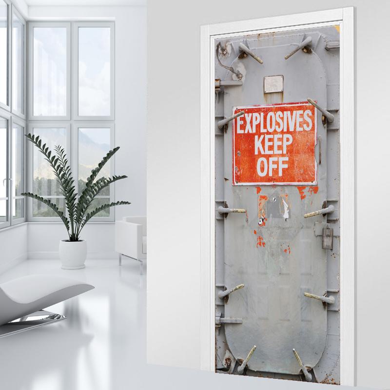 Adesivi follia adesivo per porte blindata - Decorazioni adesive per porte ...