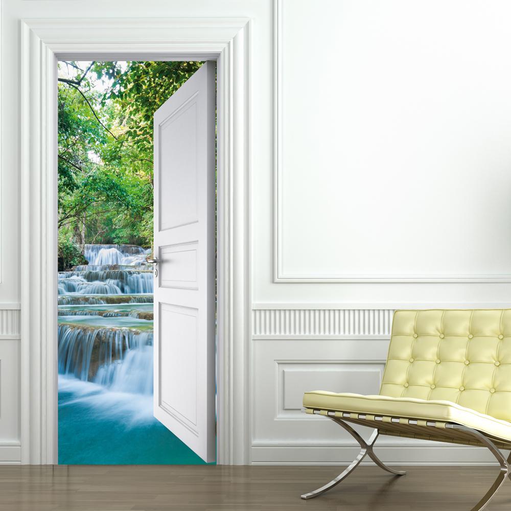 Adesivi follia adesivo per porte cascata - Adesivi decorativi per porte ...