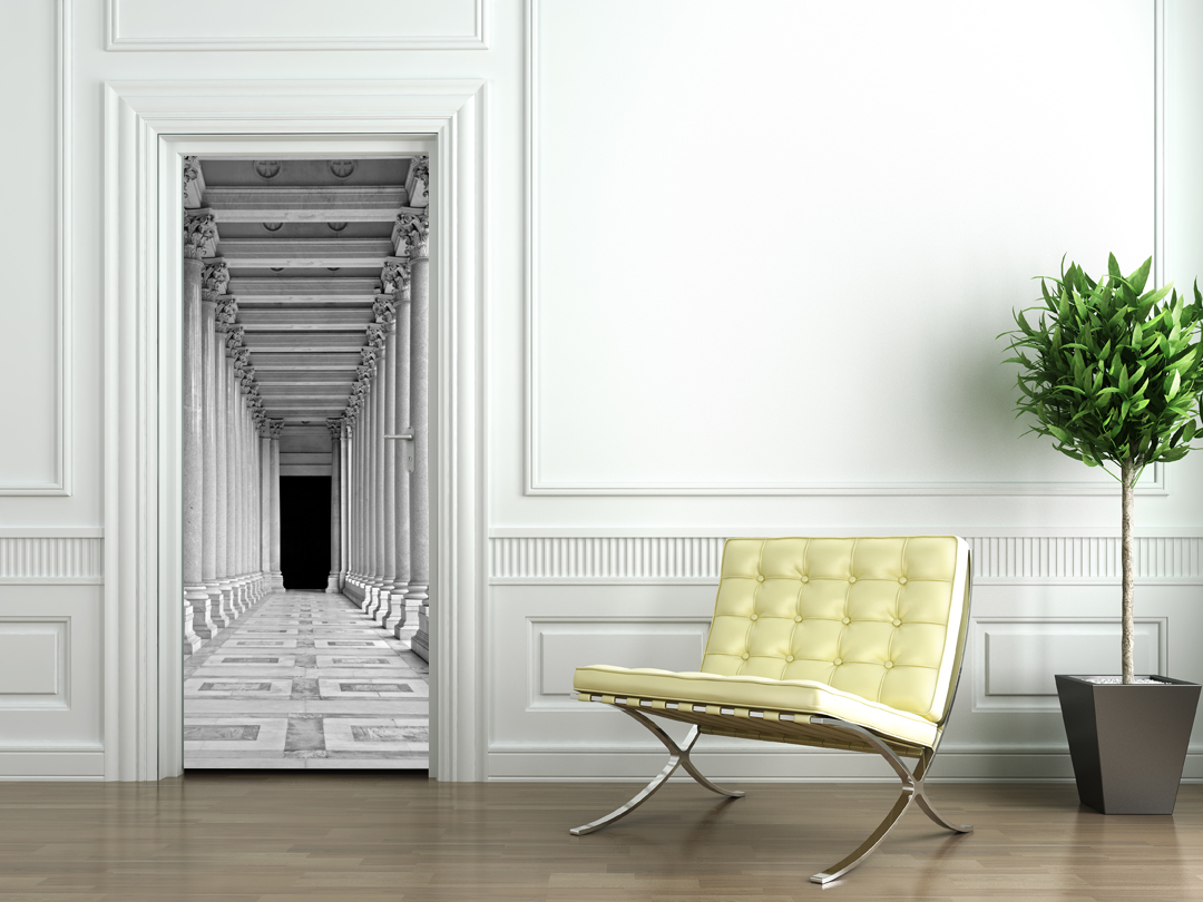 Adesivi follia adesivo per porte colonne - Adesivi decorativi per porte ...