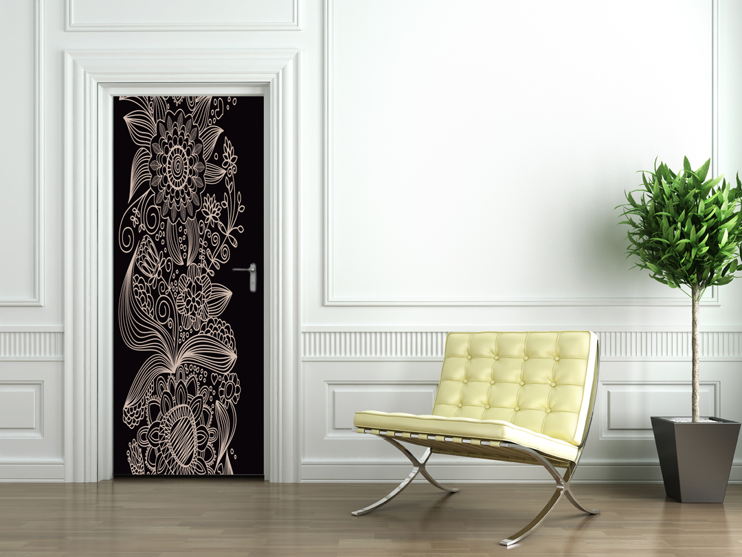 Adesivi follia adesivo per porte design - Porte decorate adesivi ...