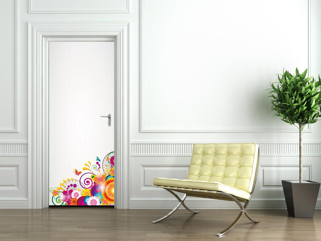 Adesivi follia adesivo per porte design - Adesivi decorativi per porte ...
